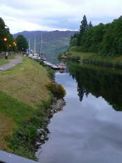 Caledonian Canal looking N into Loch Ness Large Web view