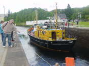 Fort Augustus - ship going through sliding bridge (2) Large Web view