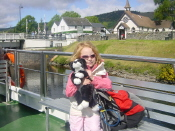 Cara on expedition for Nessie